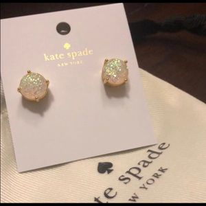 Kate Spade Gold Opal Glitter Earrings